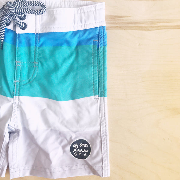 Kids Walk-Surf-Swim Color Block Shorts