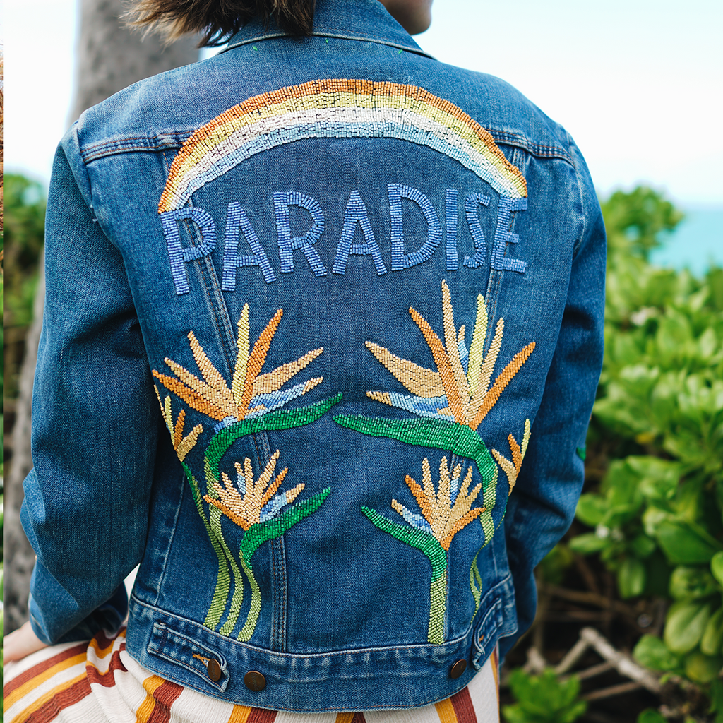 Beaded Paradise Denim Jacket