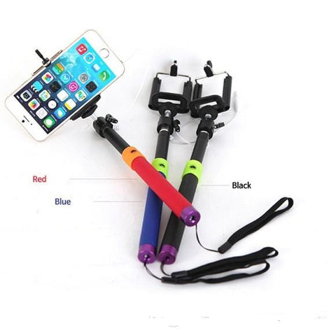 Color Block Wired Selfie Stick