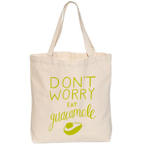 Don't Worry Eat Guacamole Medium Tote Bag