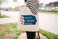 Overdue Library Books Large Tote Bag