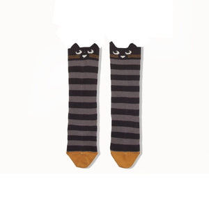 Bonnie Mob Cat Face Knee High Socks