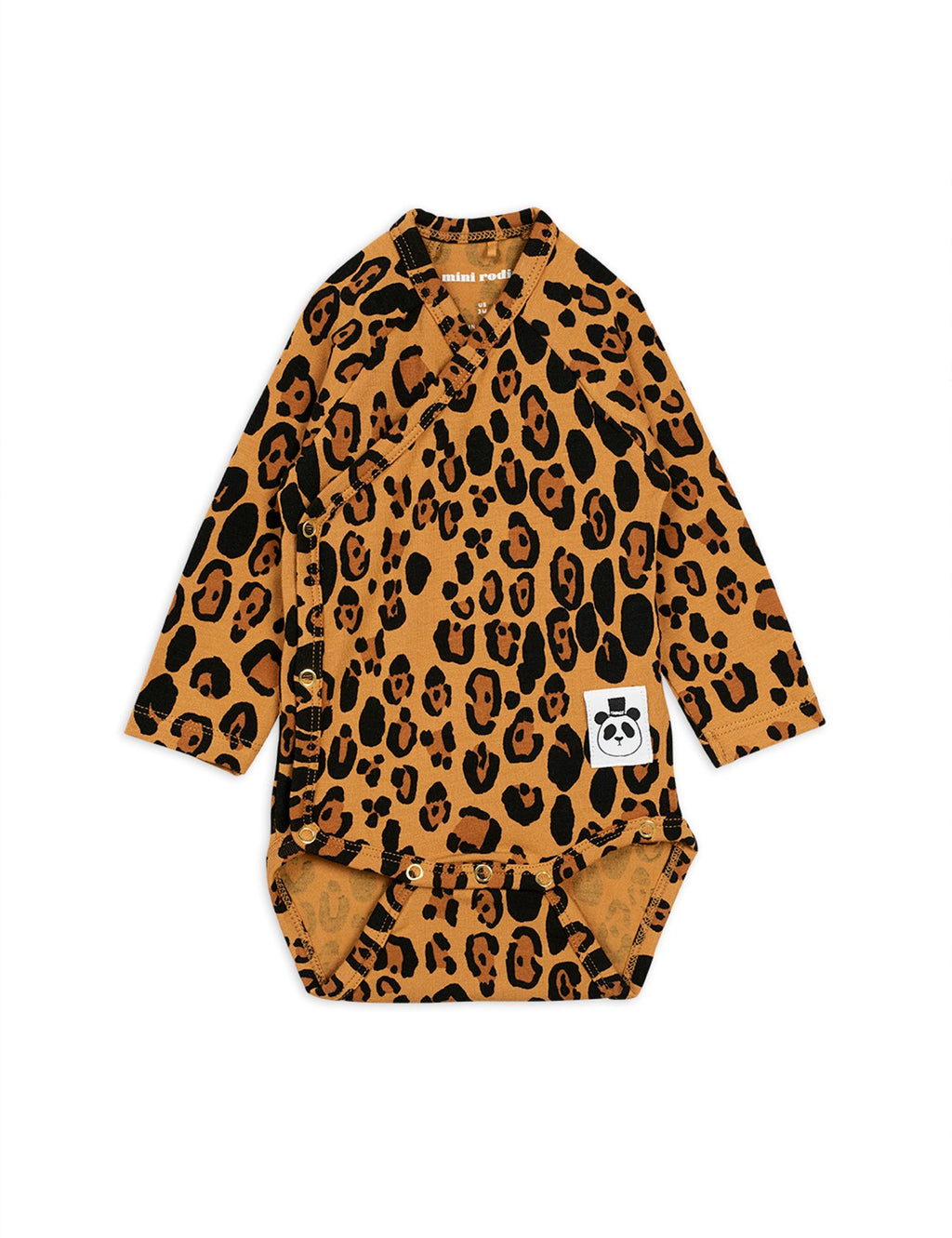 Mini Rodini Basic Leopard Wrap Bodysuit