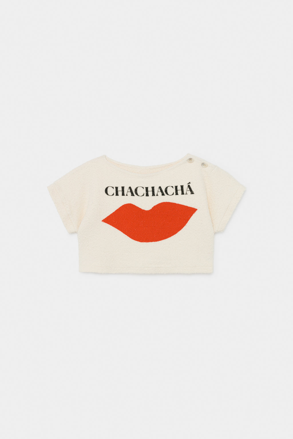 Bobo Choses Chachacha Kiss Cropped Terry Sweatshirt