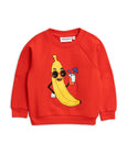 Mini Rodini Banana Sweatshirt - Red