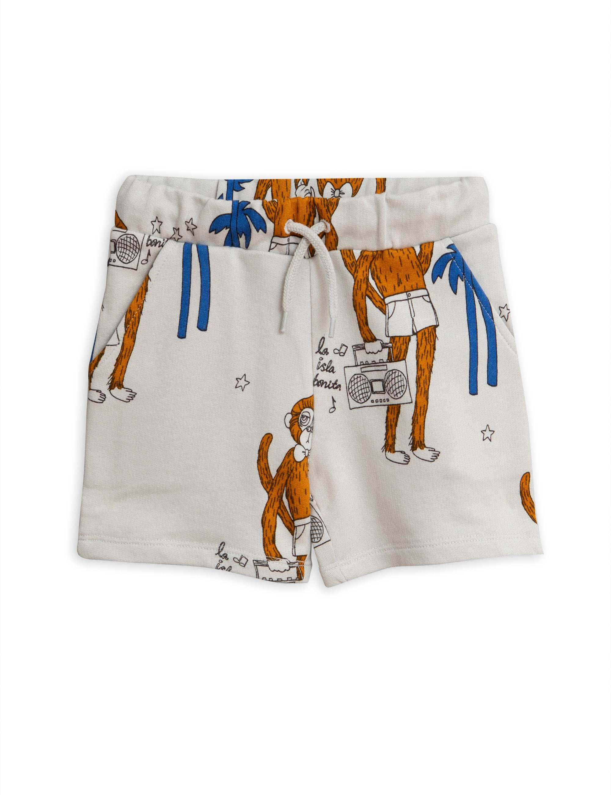 Mini Rodini Cool Monkey Sweatshorts - Grey