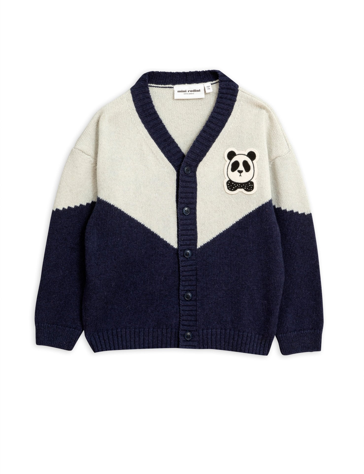 Mini Rodini Panda Knitted Wool Cardigan