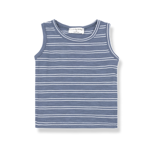 1+ in the Family Risto Tank - Indigo/White