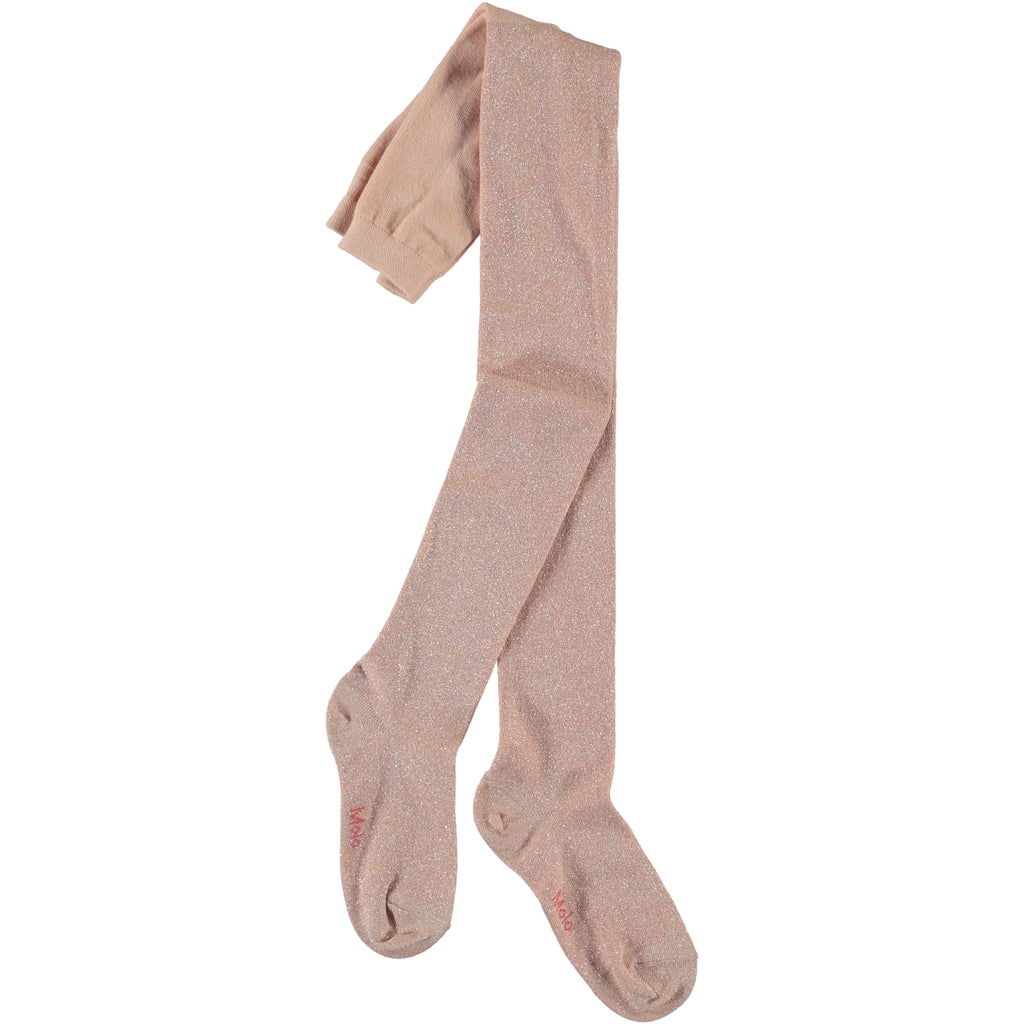 Molo Glitter Tights - Powder Pink
