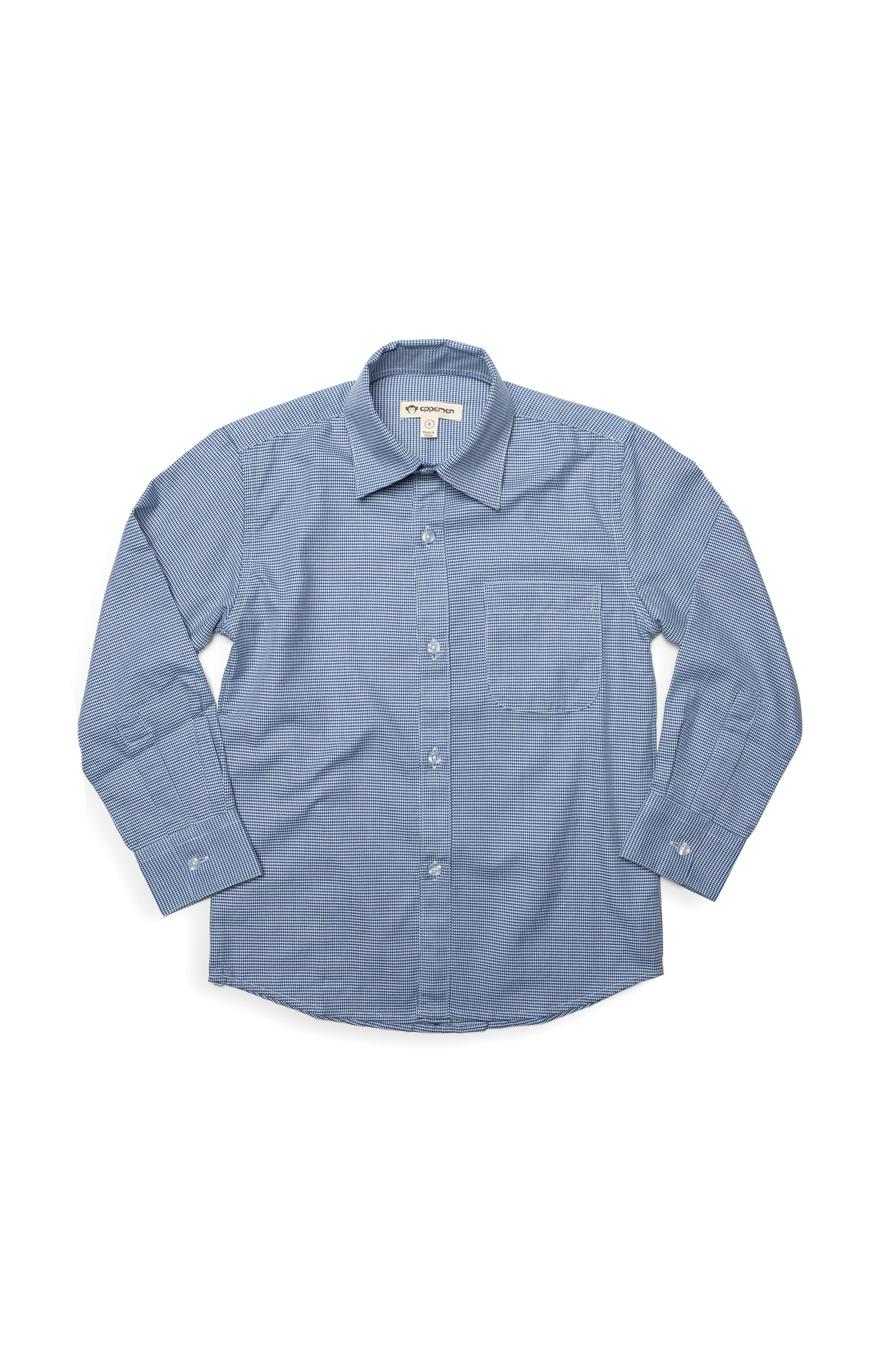 Appaman Dress Shirt - Navy Houndstooth