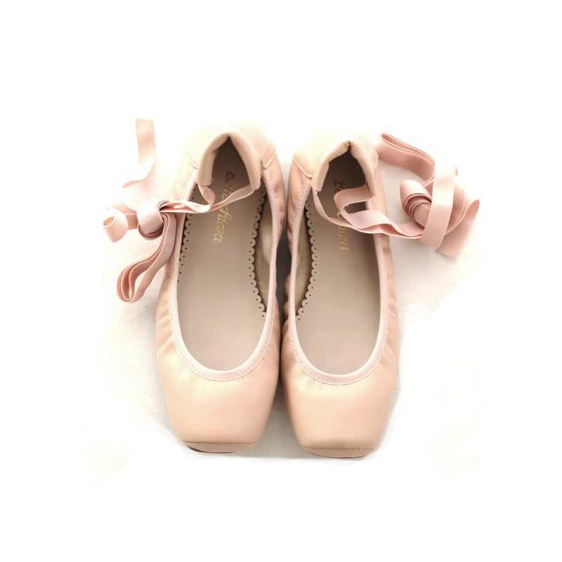 Belle Chiara Audrey Square Tip Napa Leather - Ballet Pink