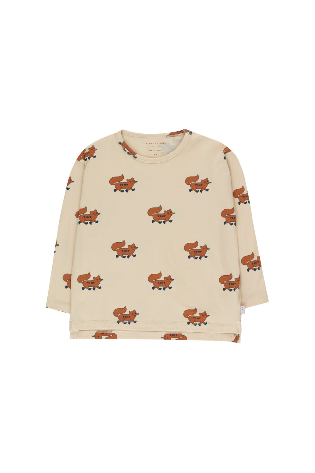 Tiny Cottons Foxes Tee - Cream/Brown