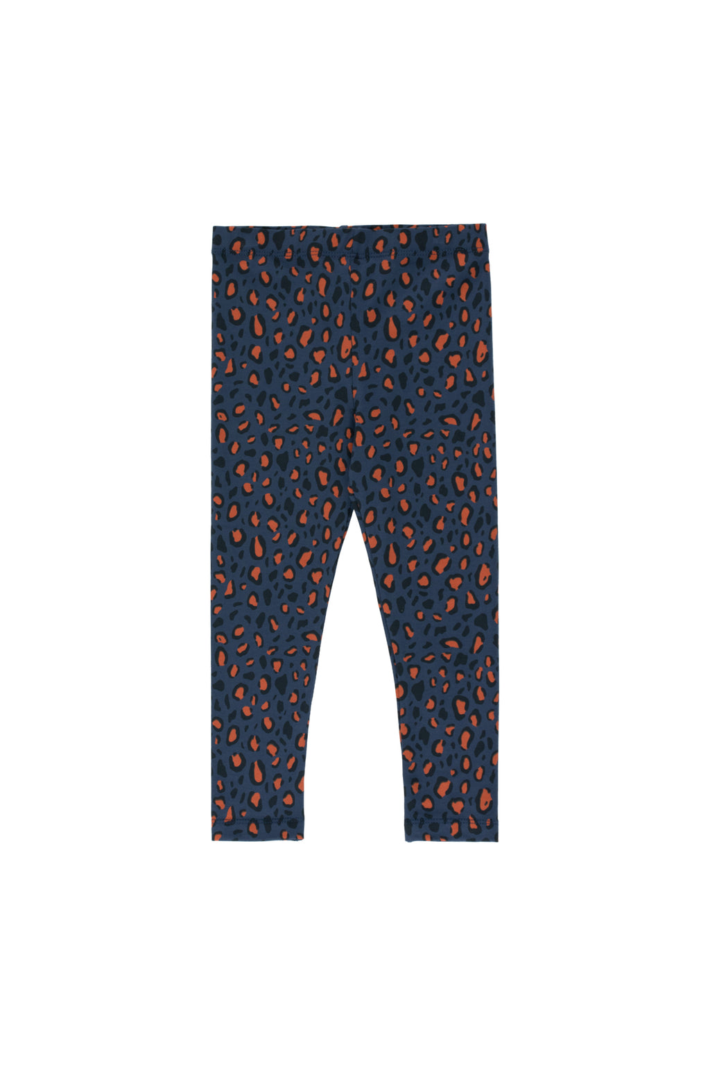Tiny Cottons Animal Print Legging - Light Navy/Dark Brown