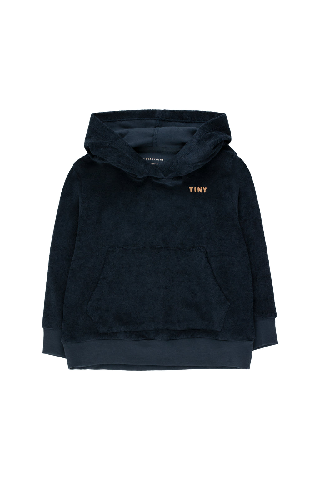 Tiny Cottons Pretzel Ride Hoody Sweatshirt - Navy/Camel