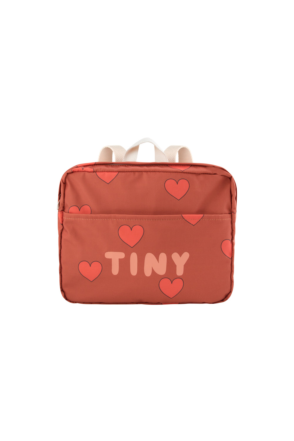"Tiny Cottons ""Hearts"" Small Backpack - Sienna/Red"