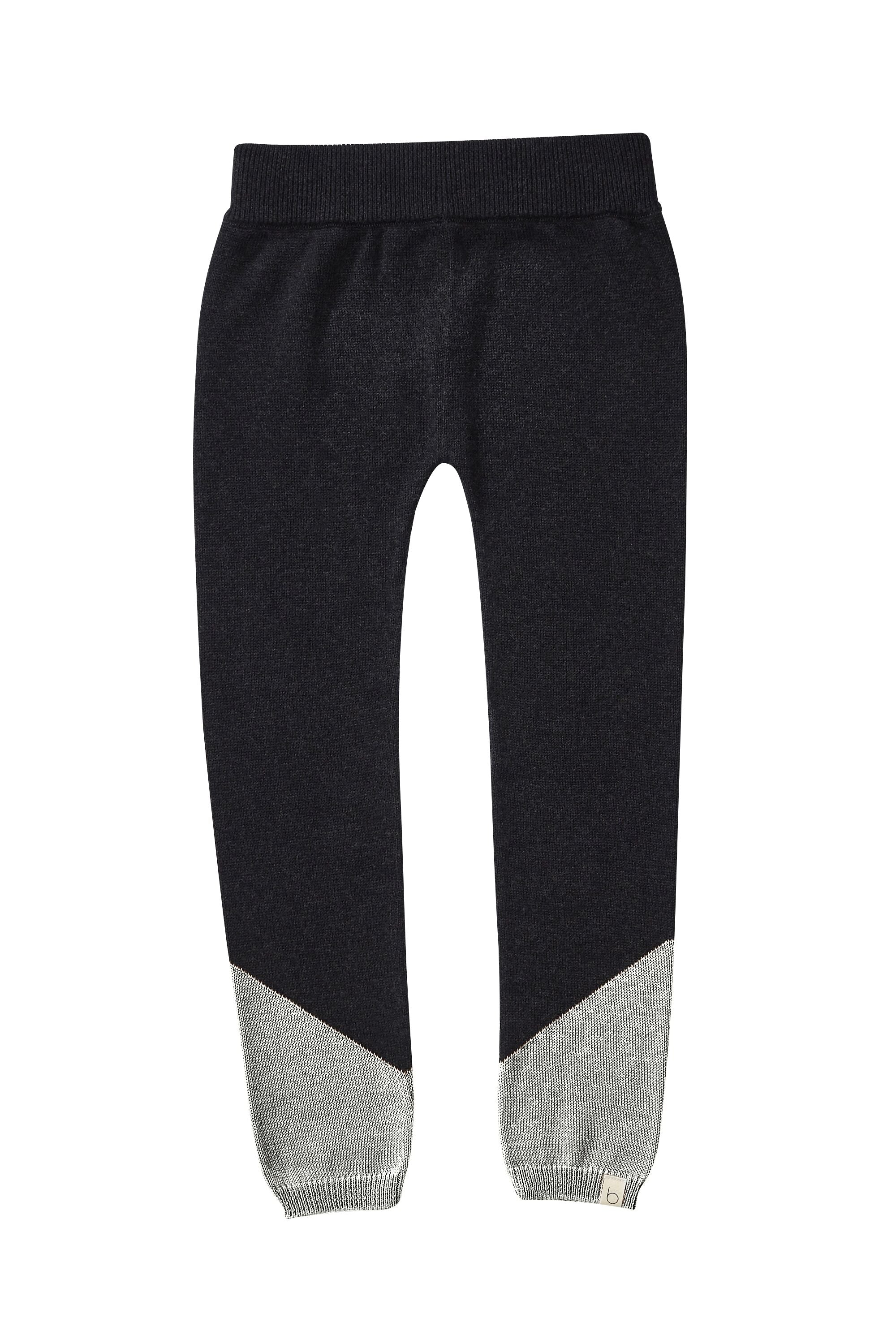 Bacabuche Colorblock Knit Legging - Charcoal/Heather
