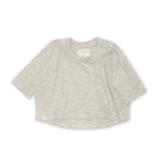 Bacabuche Oversized Box Top - Thin Navy Stripe