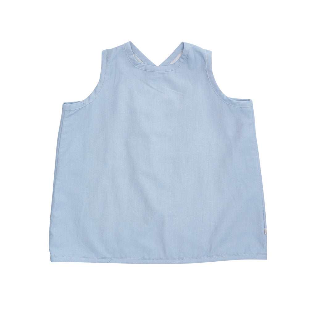 Bacabuche Cross Back Tank - Denim