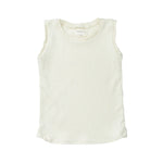 Bacabuche Ribbed Tank Top - Cream