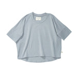 Bacabuche Oversized Jersey Tee - Blue Grey