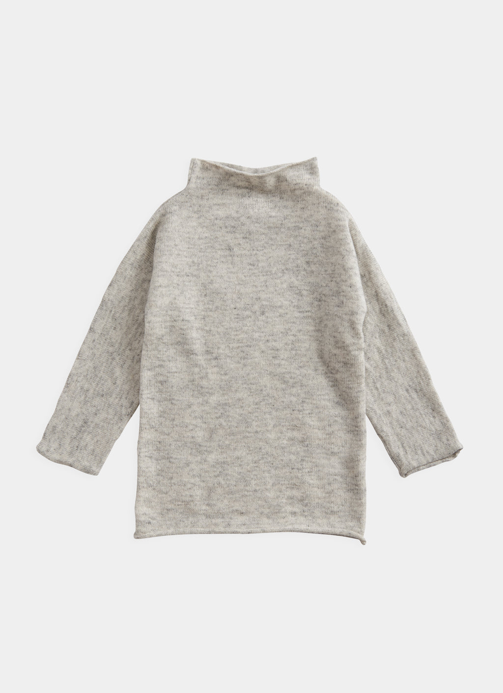 Belle Enfant Funnel Dress - Silver Grey Marl