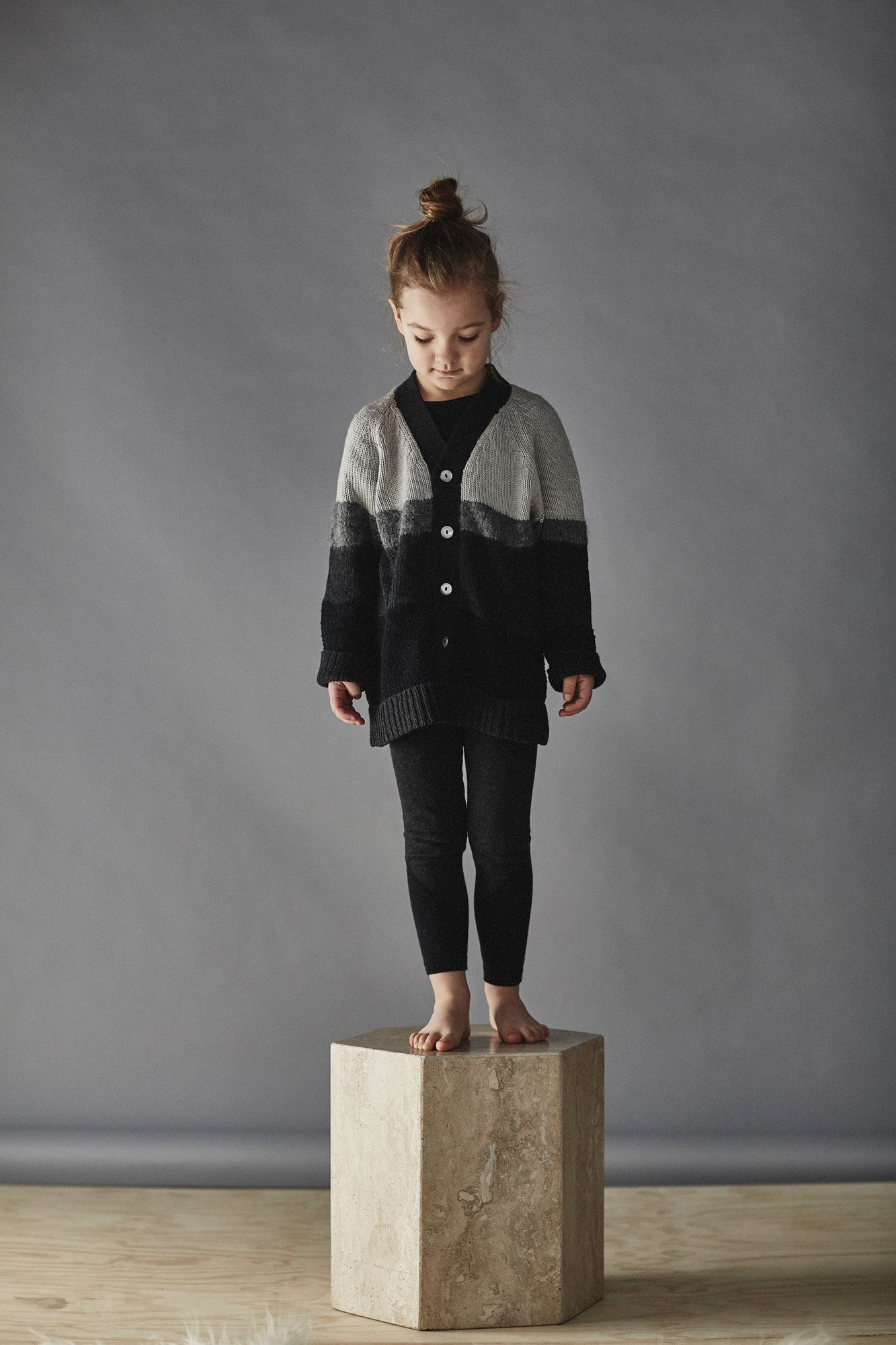 Bacabuche Strata Kid Cardigan - Black