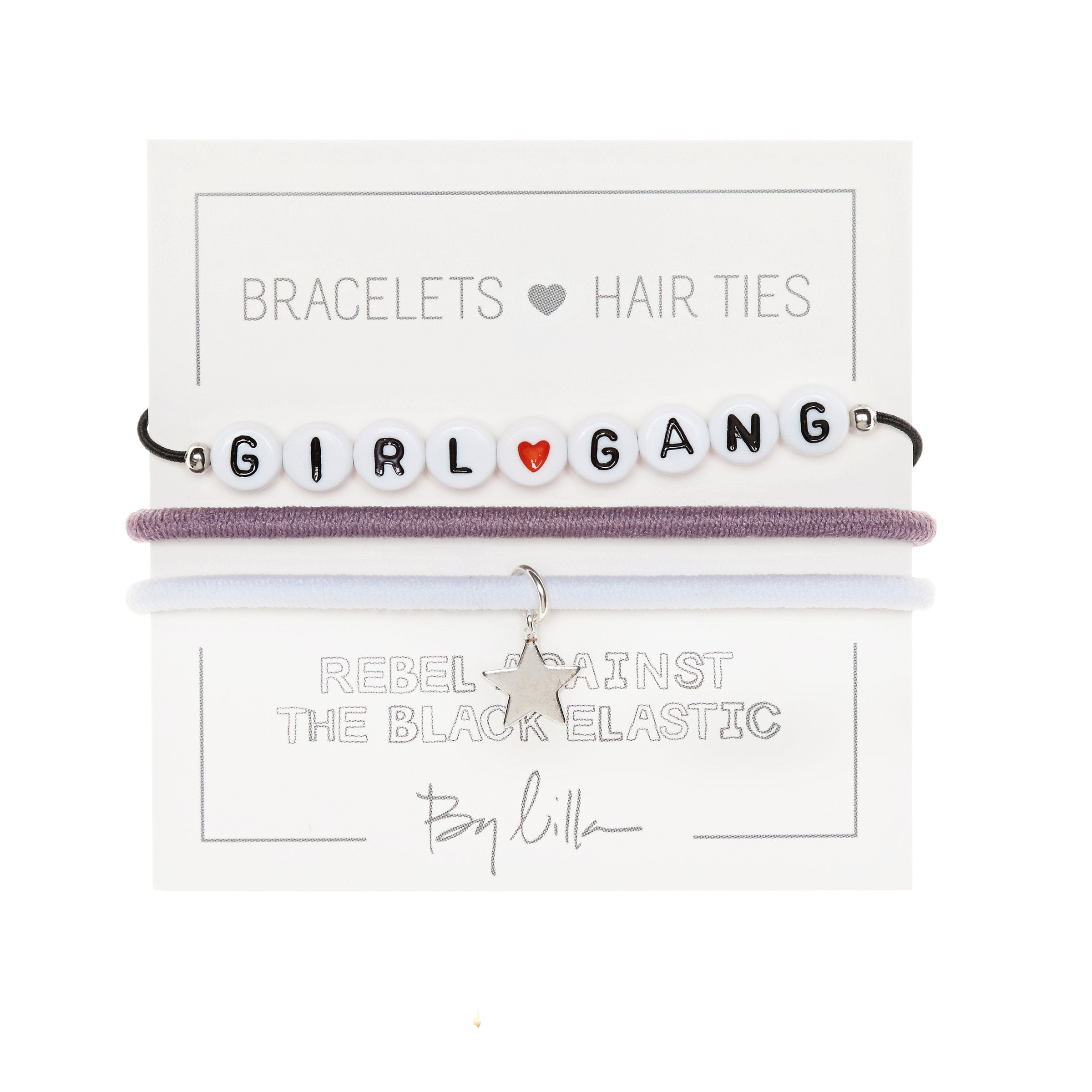 "By Lilla ""Girl Gang"" Hair Tie Bracelets"