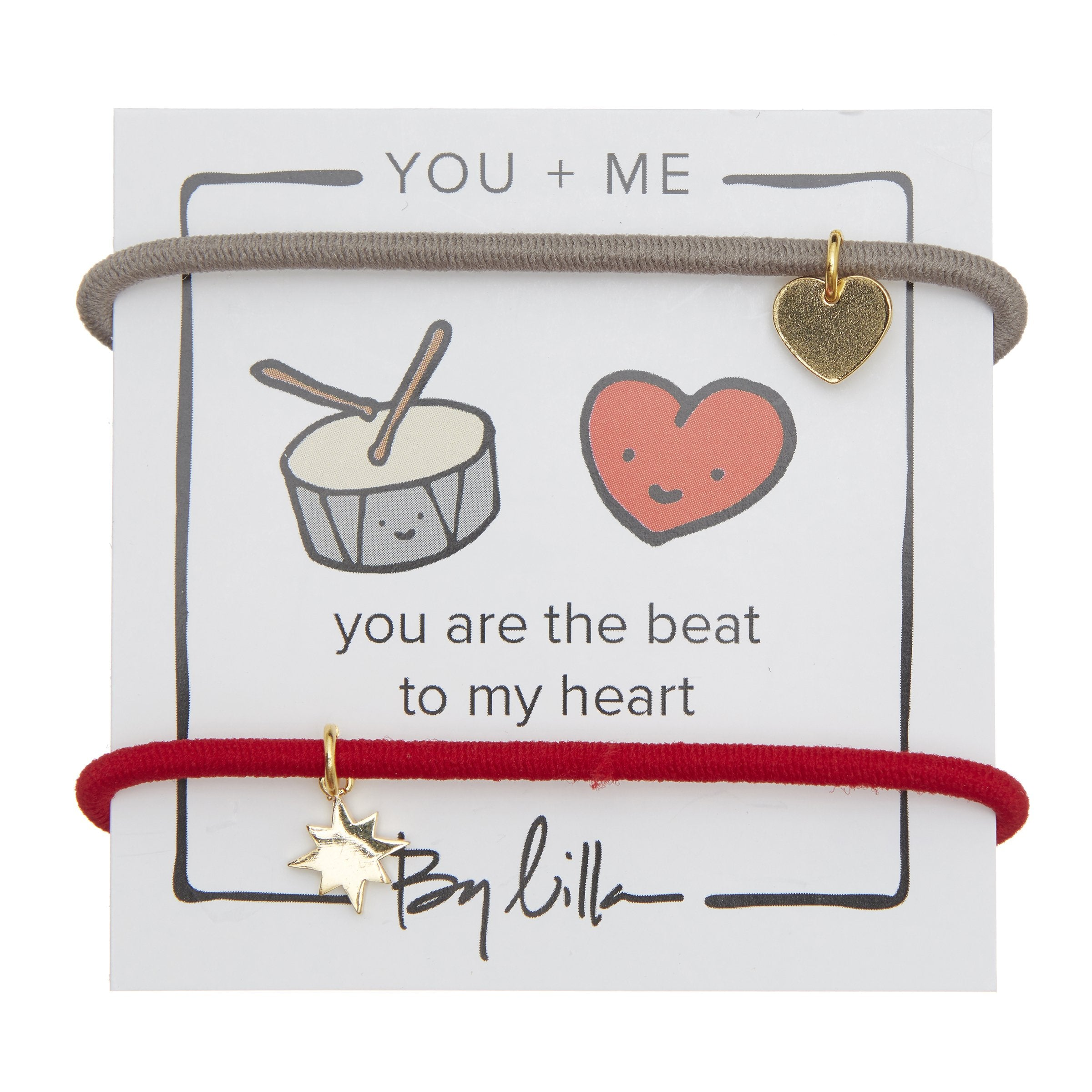 "By Lilla You + Me ""You are the Beat to My Heart"" Hair Tie Bracelet"