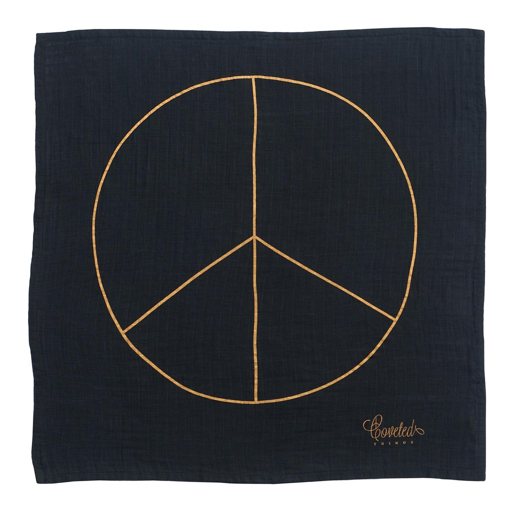 Coveted Things - Peace Organic Charity Swaddle for Alliance of Moms