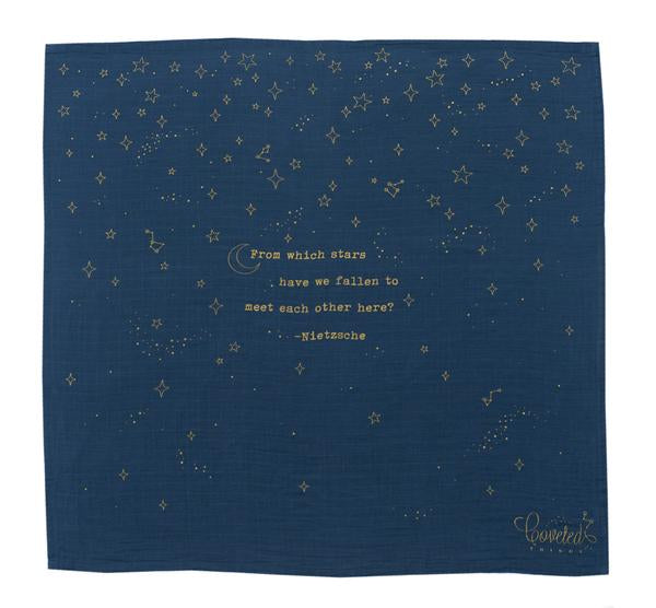 Coveted Things - Golden Stars Organic Swaddle Scarf