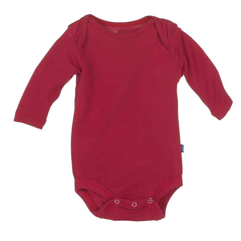 Kickee Pants Bodysuit - Crimson