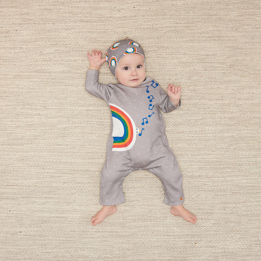Bonnie Mob Duster Peace Love Playsuit - Grey