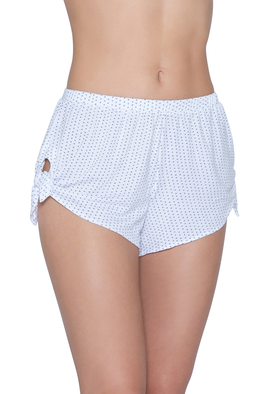 Eberjey Tropea Knotted Shorts - White