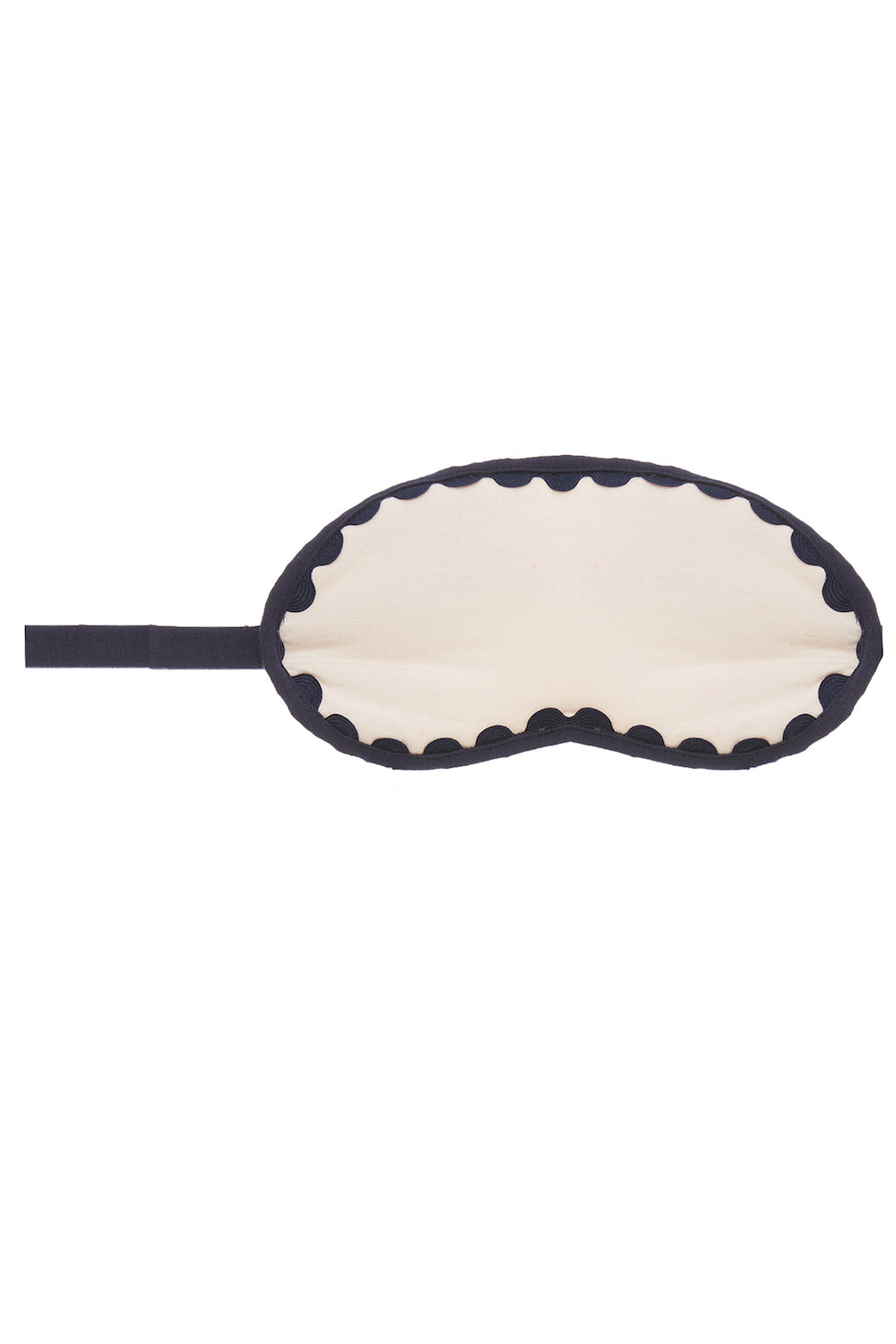 Eberjey Ric Rac Eye Mask- Shell/Peacoat