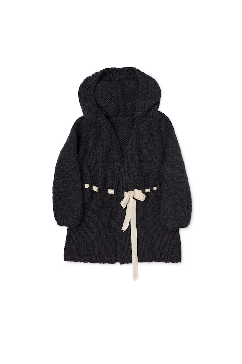 Little Creative Factory Chunky Knit Jacket - Slate