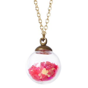 Bottleblond Crystal Ball Love Potion Necklace