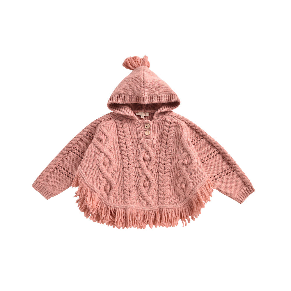Louise Misha Lili Mantle Poncho- Blush