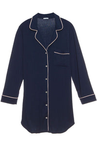 Eberjey Gisele Sleep Shirt- Navy/Ivory