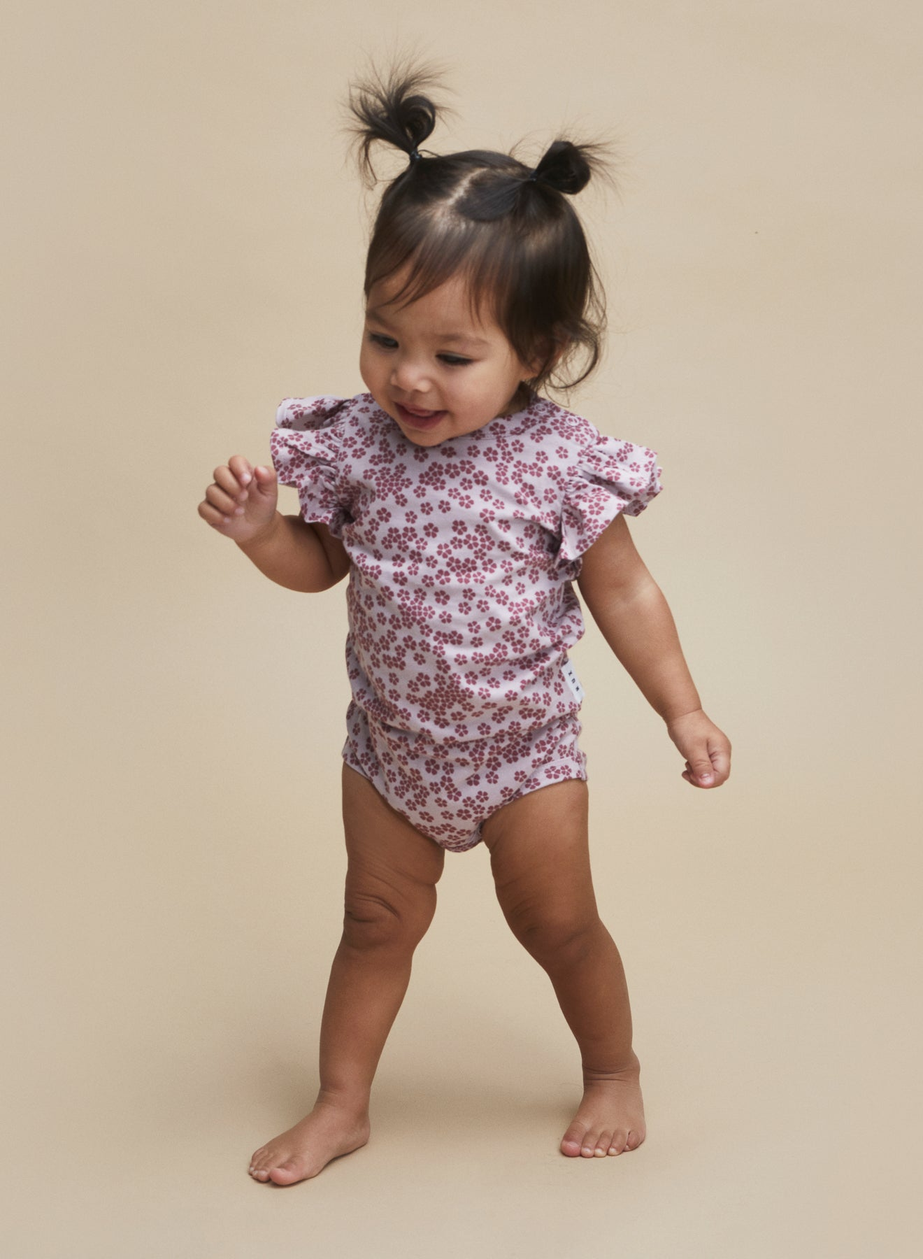 Huxbaby Floral Frill Onesie - Lilac