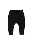 Huxbaby Smiley Drop Crotch Pant - Black