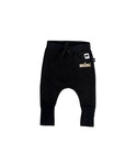 Huxbaby Jersey Drop Pant - Black/Gold Mini
