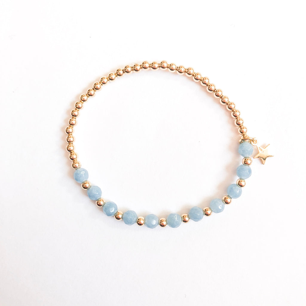 Marli and Lenny Dainty Bracelet - Blue/Star