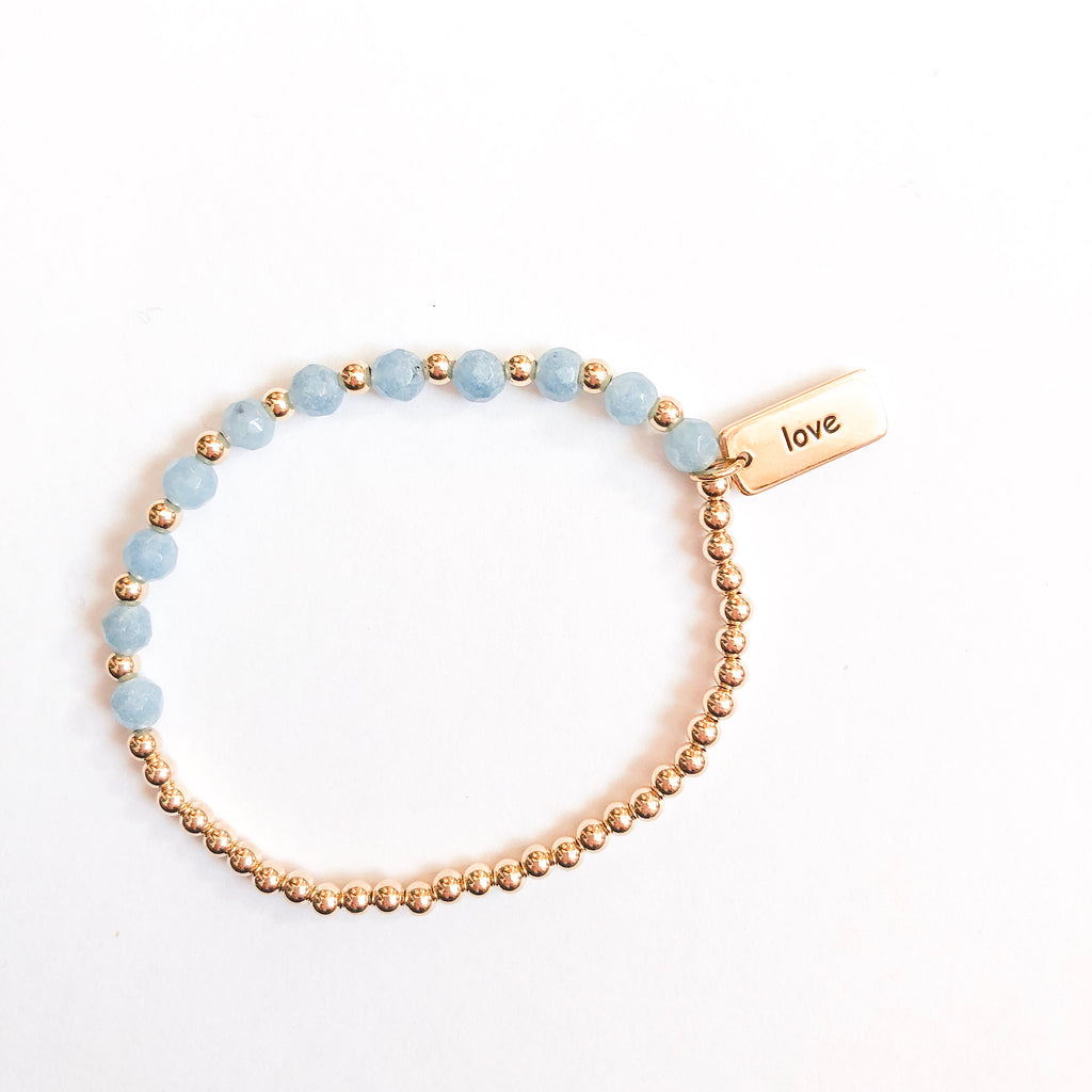 Marli and Lenny Dainty Bracelet - Blue/Love