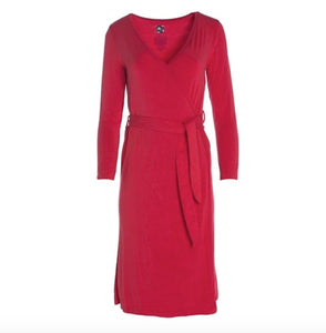 Kickee Pants Solid Basic Robe - Crimson