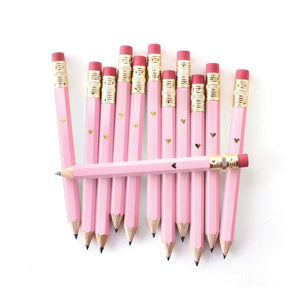 Inklings Gold Heart Mini Pencils - Pink