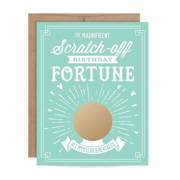 Inklings Paperie Birthday Fortune Scratch-off Card