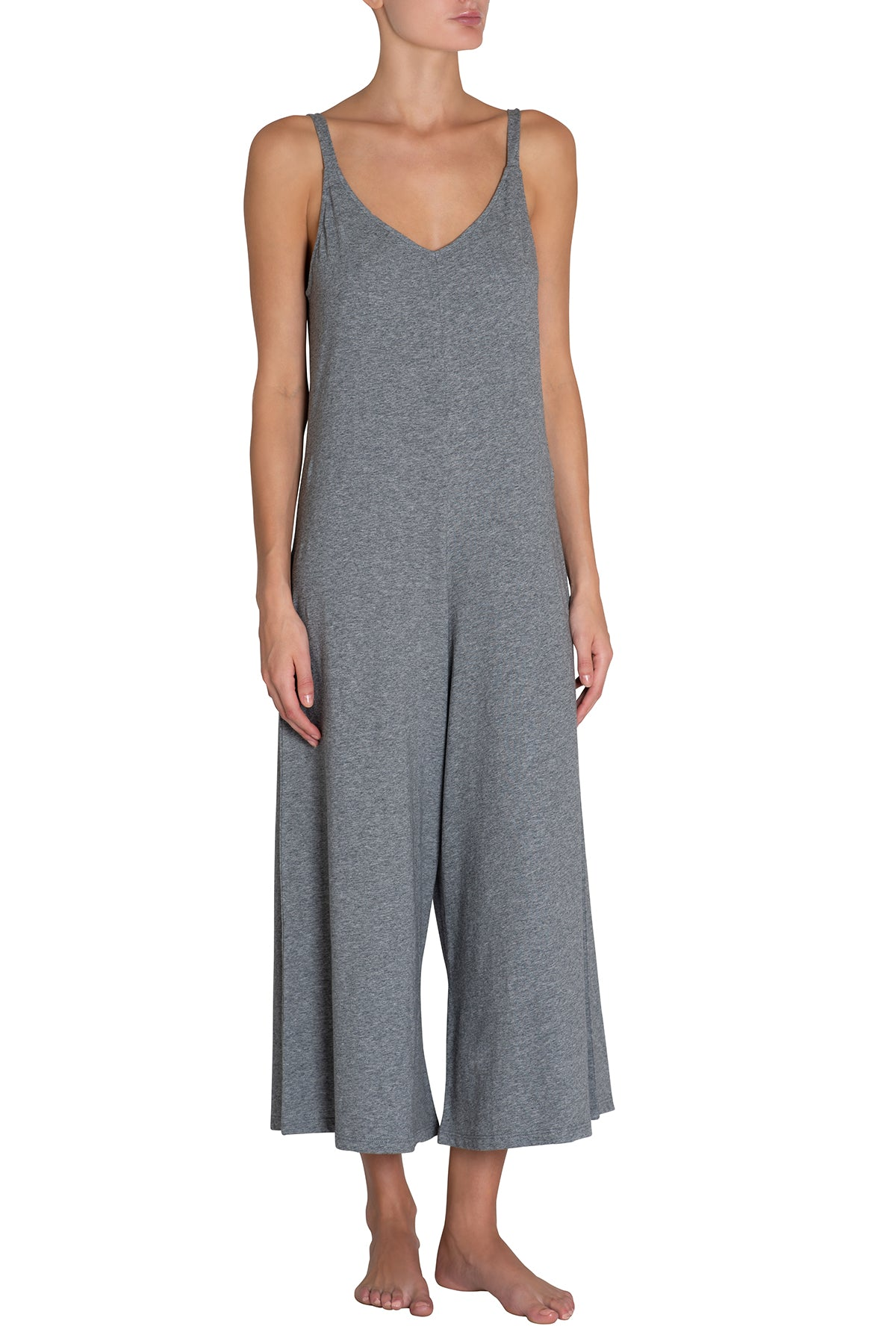 Eberjey Charlie Casual Jumpsuit - Heather Grey