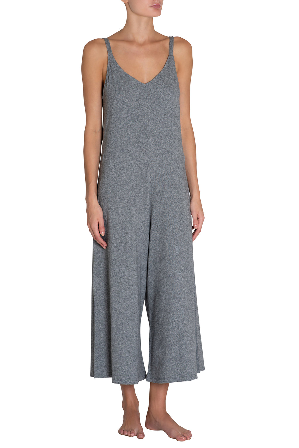 Eberjey Charlie Causal Jumpsuit - Heather Grey