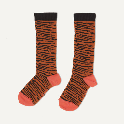 Bonnie Mob Chunky Tiger Stripe Knee Socks - Honey