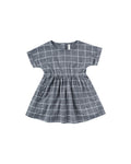 Rylee + Cru Wavy Check Kat Dress - Washed Indigo